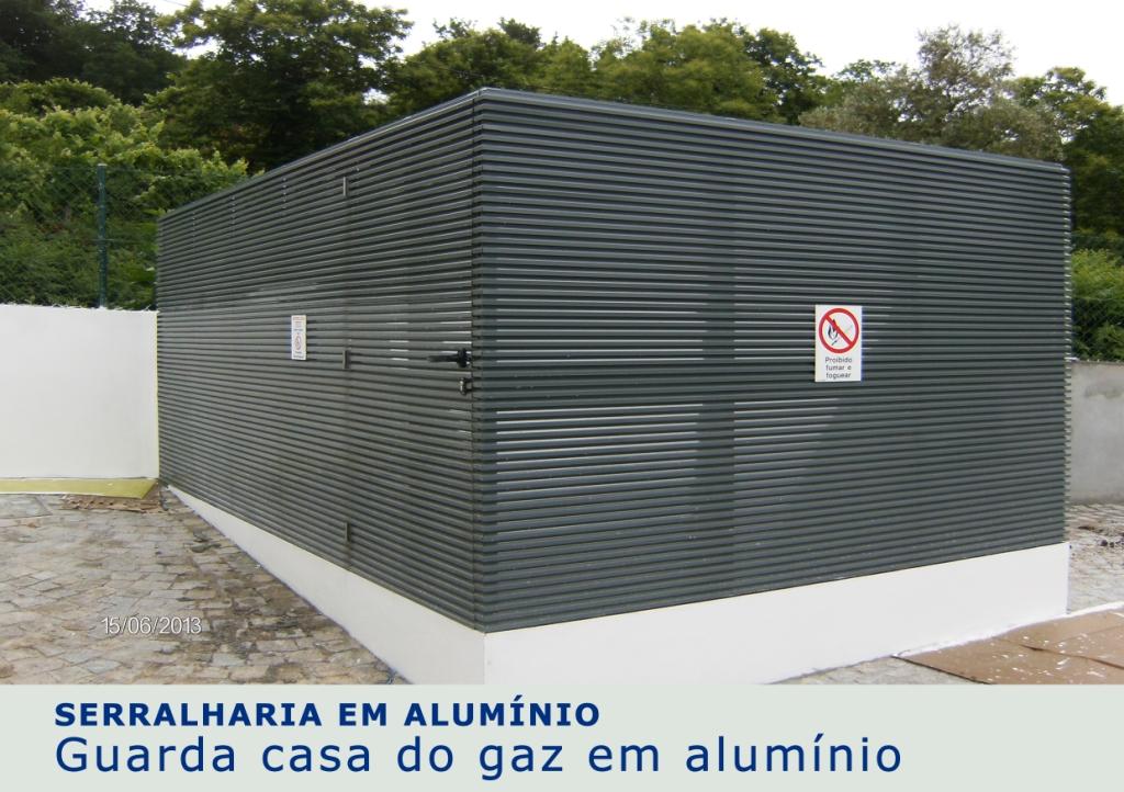 Guarda casa do gaz em alumínio