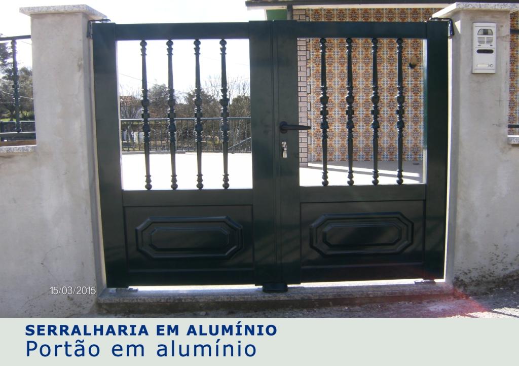 Portão em alumínio 1